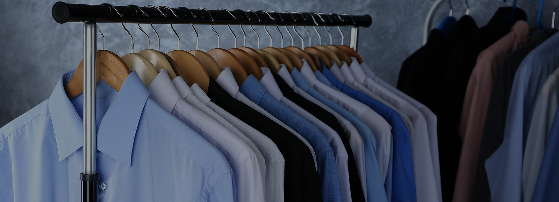 Dry cleaned dress shirts